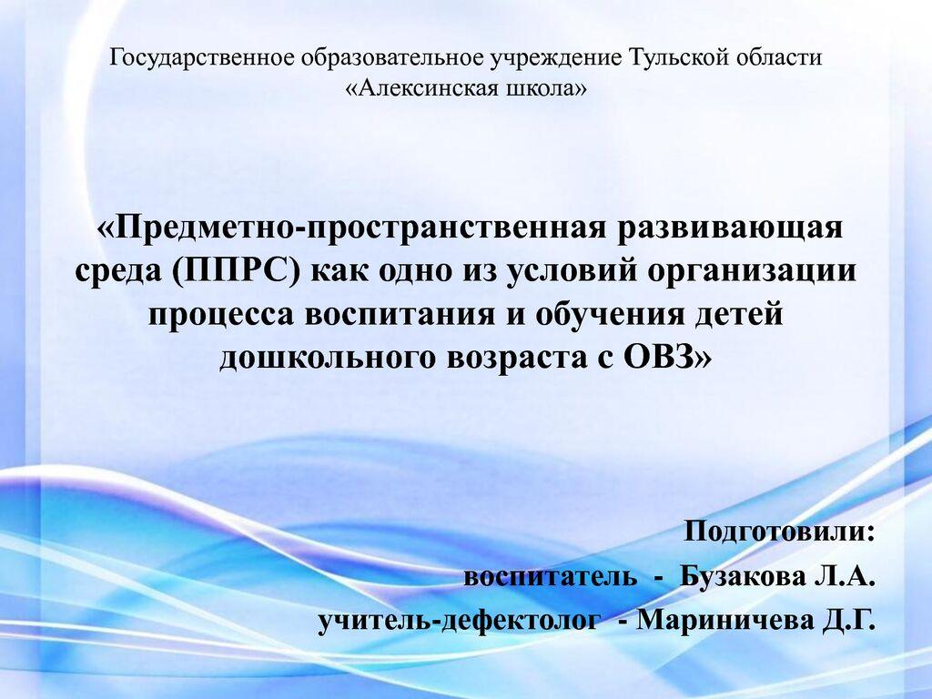 thumbnail of Организация предметно пространственной развивающей среды для днтнй с ОВЗ_1.
